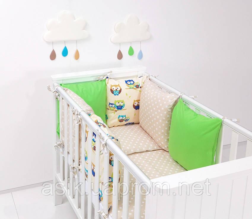Набор детской постели с модульной охранкой №7