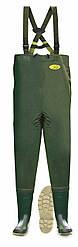 Полукомбинезон (вейдерсы) для рыбалки зеленый  Lemigo spodniobuty 997