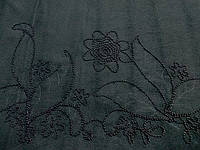 Кашемир Купон Бисер (черный) (арт. 01100)
