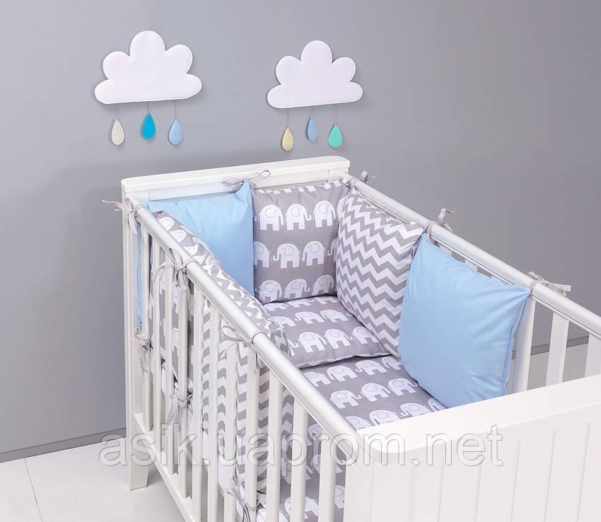 Набор детской постели с модульной охранкой №8
