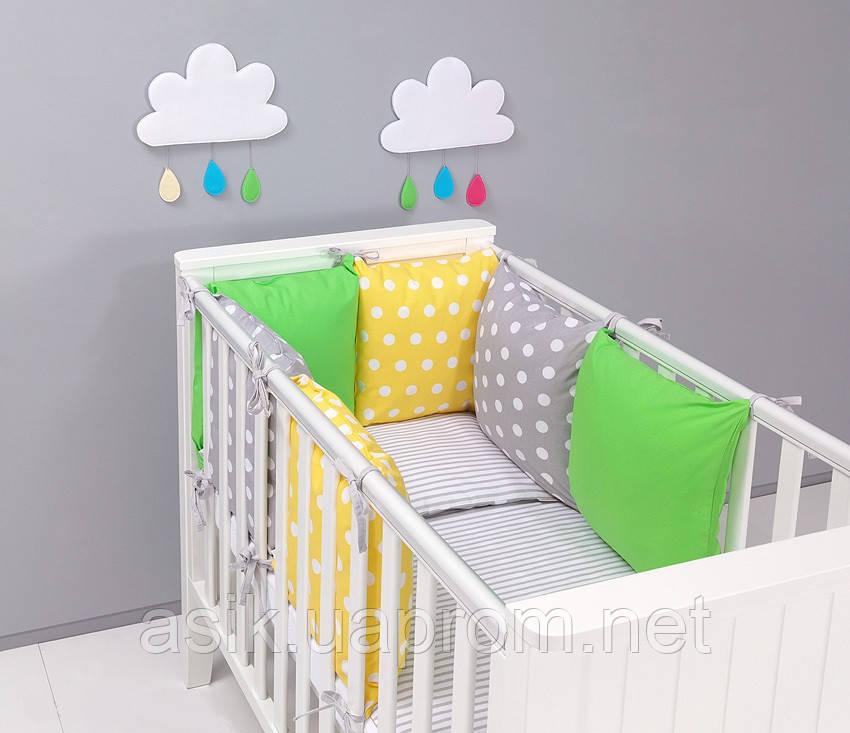 Набір дитячої постелі з модульної охранкою №9