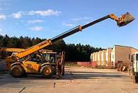 Аренда телескопического погрузчика Киев. Услуги телескопического погрузчика с вылетом стрелы от 4 до 17 метров