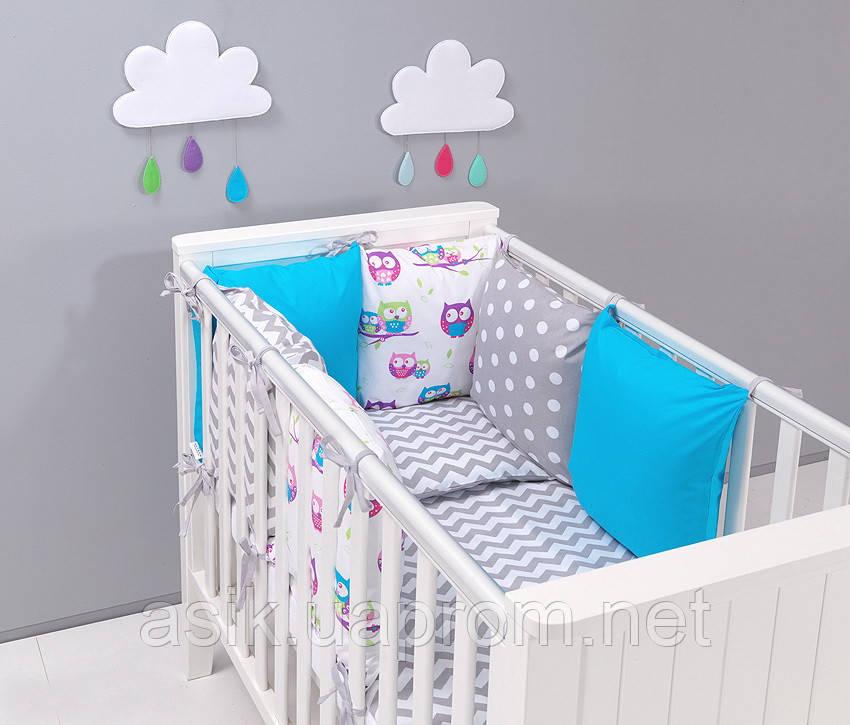 Набор детской постели с модульной охранкой №11