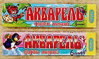 Краски АКВАРЕЛЬ 6 цв. медовые, картонная упаковка.