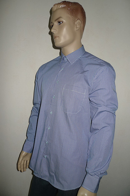 Рубашка синяя клетка AYGEN (Турция)