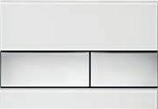 Панель смыва ТЕСЕsquare белое стекло, клавиши хром гл., фото 1