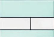 Панель смыва ТЕСЕsquare зеленое стекло, клавиши белые, фото 1