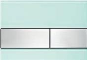 Панель смыва ТЕСЕsquare зеленое стекло, клавиши нерж.сталь, фото 1