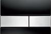 Панель смыва ТЕСЕsquare черное стекло, клавиши нерж.сталь