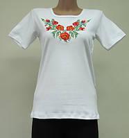 Женская футболка с вышивкой Маки