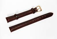 Ремешок (искусственная кожа) Nobrand для наручных часов с классической застежкой, коричневый, 12 мм