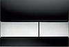 Панель смыва ТЕСЕsquare черное стекло, клавиши хром гл.