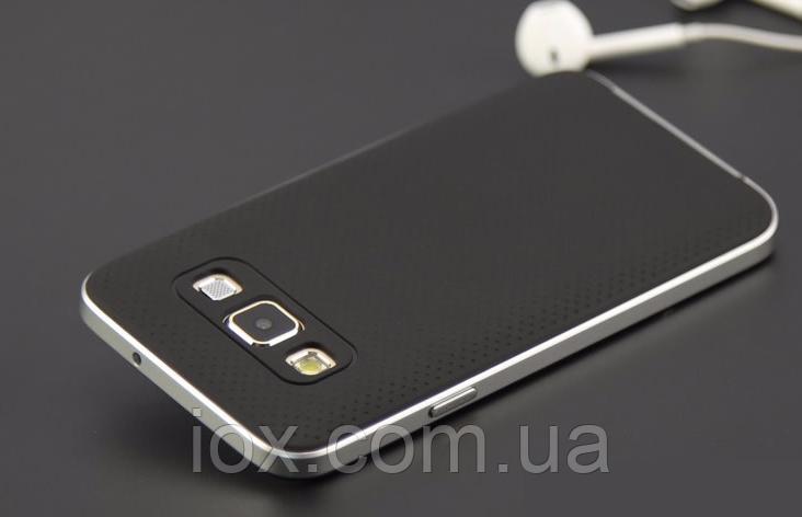 Силиконовый двойной черный с серебром чехол для Samsung Galaxy A5