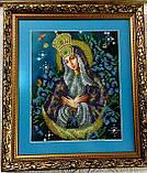А4Р_210 БМ Остробрамская по мотивам иконы художника Александра Охапкина. Схема для вышивки бисером, фото 2