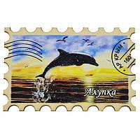 """Магнит """"Марка"""" дельфин на закате Алупка"""