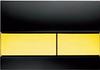 Панель смыва ТЕСЕsquare черное стекло, клавиши позолоч.