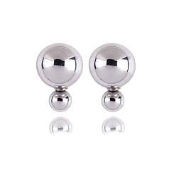 Сережки - цвяшки (пусети) Dior Stile (дзеркальні)