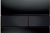 Панель смыва ТЕСЕsquare черное стекло, клавиши черные