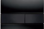 Панель смыва ТЕСЕsquare черное стекло, клавиши черные, фото 1