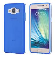 Силиконовый синий двойной чехол с бампером для Samsung Galaxy A5, фото 1
