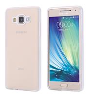 Силиконовый прозрачный с белым двойной чехол с бампером для Samsung Galaxy A5