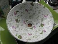 Умывальник накладной керамический круглый 430мм х 140мм