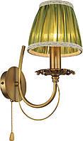 Бра Altalusse INL-6119W-01 Golden Brass/Green