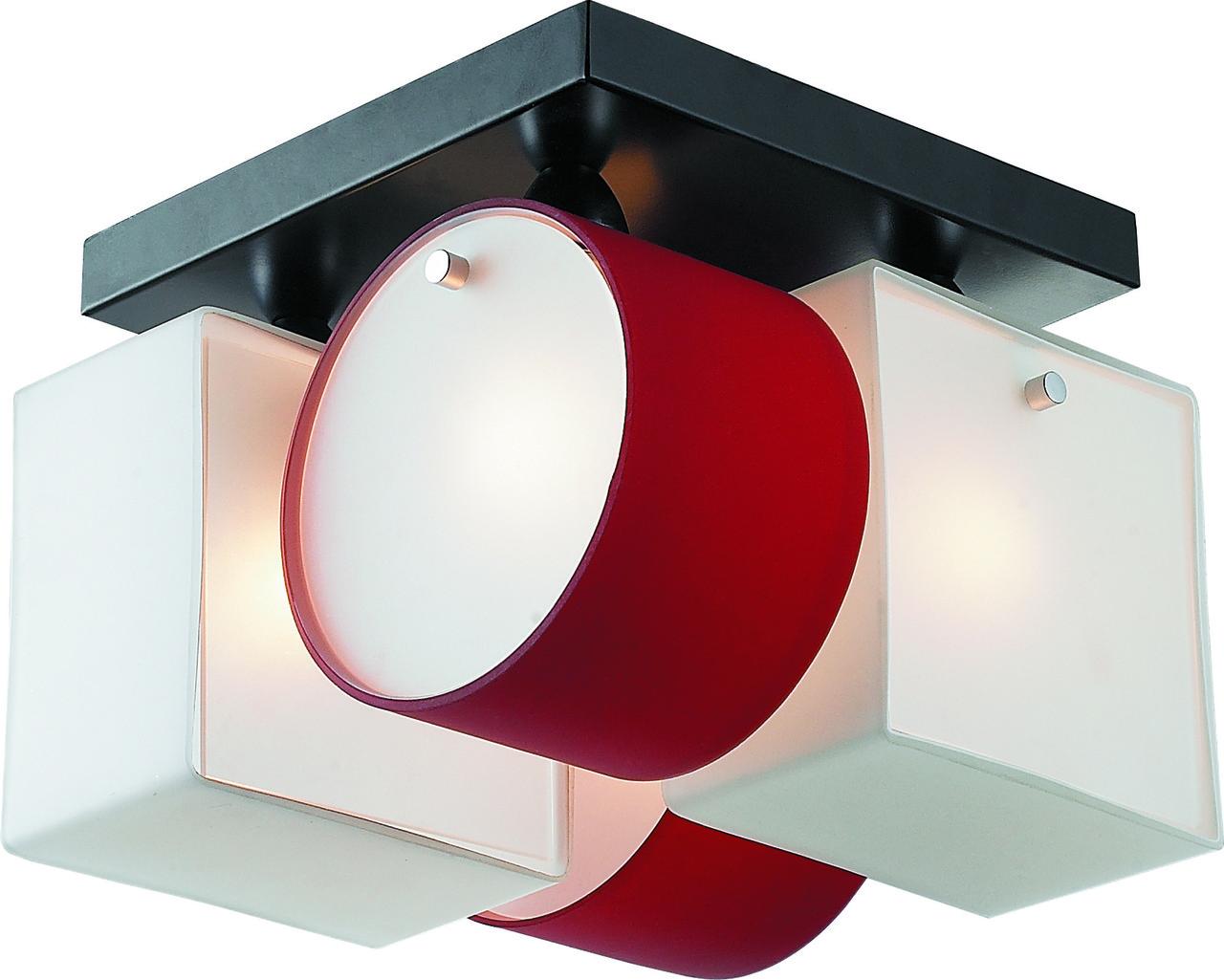 Потолочная люстра Altalusse INL-9252C-04 White & red