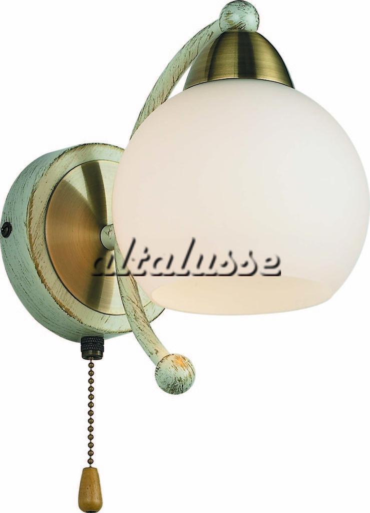 Бра Altalusse INL-9267W-01 Antique Brass & Beige