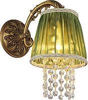 Бра Altalusse INL-6123W-01 Golden Brass/Green