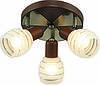 Потолочная люстра Altalusse INL-9269C-03 Antique Brass & Walnut
