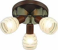 Потолочная люстра Altalusse INL-9269C-03 Antique Brass & Walnut, фото 1