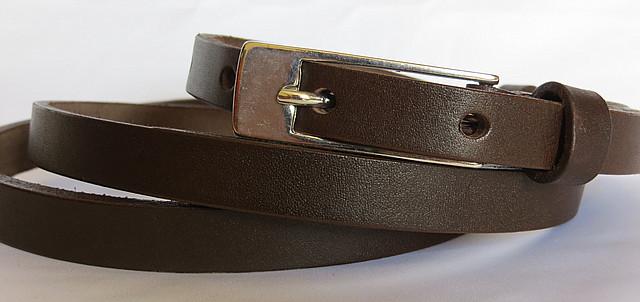Ремень поясок женский кожаный Шарли Svetlana Zubko 130х1,5 см 2K152