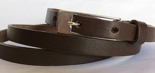 Ремень поясок женский кожаный «Шарли» Svetlana Zubko ДхШ: 130х1,5 см. коричневый 2K152