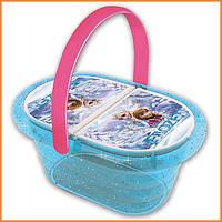 Набор посудки в корзине для пикника Frozen Smoby 24485