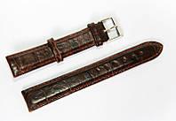 Ремешок (искусственная кожа) Nobrand для наручных часов с классической застежкой, коричневый, 18 мм