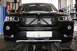 Декоративно-захисна сітка радіатора BMW X3 (F25) фальшрадіаторная решітка (ніздрі), фото 2