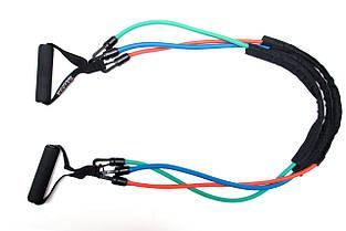 Эспандер трубчатый со съемными ручками Power System PS-4008  Power Expander Set, фото 3