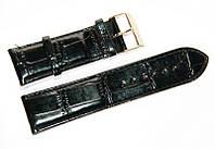 Ремешок (искусственная кожа) Nobrand для наручных часов с классической застежкой, черный, 24 мм