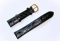 Ремешок (искусственная кожа) Nobrand для наручных часов с классической застежкой, черный, 18 мм