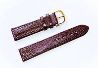 Ремешок (искусственная кожа) Nobrand для наручных часов с классической застежкой, коричневый, 20 мм