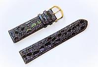 Ремешок (искусственная кожа) Nobrand для наручных часов с классической застежкой, черный, 22 мм