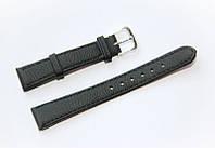 Ремешок (искусственная кожа) Nobrand для наручных часов с классической застежкой, черный, 16 мм