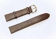 Ремінець (штучна шкіра) Nobrand для наручних годинників з класичною застібкою, коричневий, 18 мм