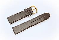 Ремешок (искусственная кожа) Nobrand для наручных часов с классической застежкой, коричневый, 22 мм