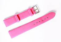 Ремешок (искусственная кожа) Nobrand для наручных часов с классической застежкой, розовый, 18 мм