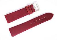 Ремешок (искусственная кожа) Nobrand для наручных часов с классической застежкой, красный, 22 мм