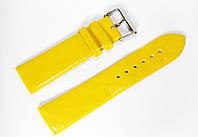 Ремешок (искусственная кожа) Nobrand для наручных часов с классической застежкой, желтый, 22 мм