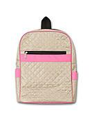 Рюкзачок стеганый Нина бежевый/розовый. Разные цвета