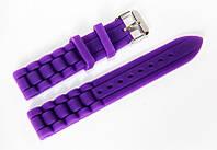Каучуковий ремінець для наручних годинників Geneva з класичною застібкою, фіолетовий, 18 мм